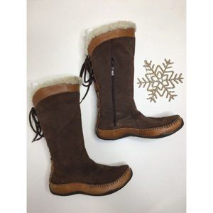 North Face Janey Brown Suede Winter Boots - Size 7